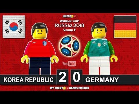 Korea Republic vs Germany 2-0 • World Cup 2018 (27/06/2018) All Goals Highlights Lego Football