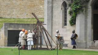 The Rebel Attack on Lucy Tower during the Reenactment of the Battle of Lincoln Fair. May 28 2017