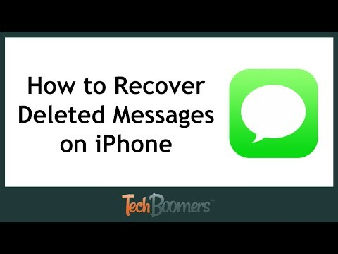 How do you recover deleted text messages on an iphone 8