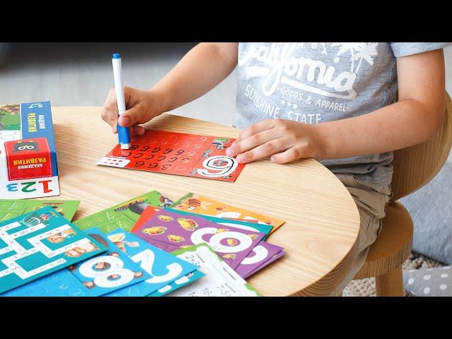 Vladi Toys VT5010-04 Игра с маркером Пиши и вытирай Цифры и примеры