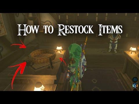 How To Restock Items in The Legend of Zelda: Breath of the Wild
