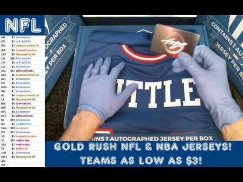 Gold Rush 2016 Autograph Football Jersey Box 2 Case 44 YA Tittle