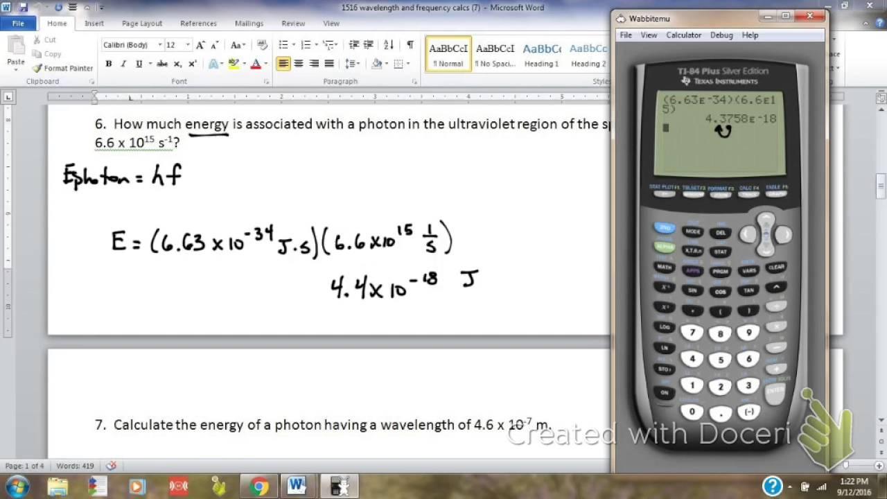 CalcTool: Energy of a Photon calculator