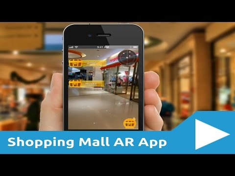 Shopping Mall Augmented Reality App - Treasure Hunt