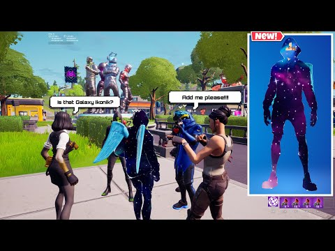 Galaxy Ikonik in Fortnite Party Royale
