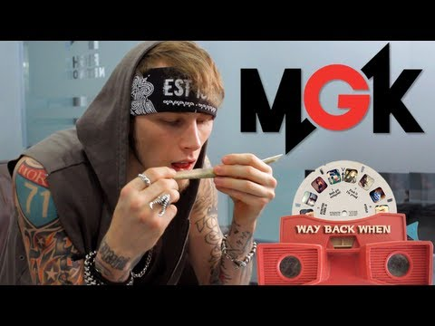 Machine Gun Kelly Rolls a Canon During Interview