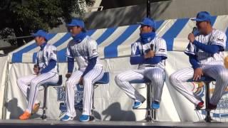 2015.11.28 横浜スタジアム ハマスタ #5 倉本選手、#14 石田選手、#19 ...