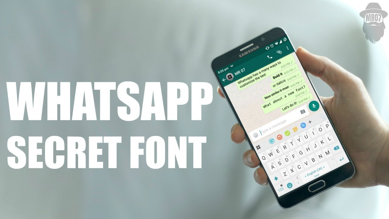 how to change fonts on whats app