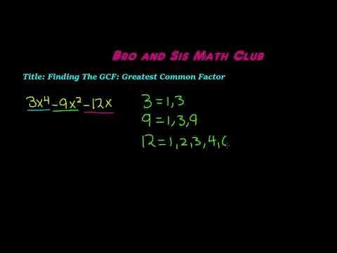 GCF of Polynomials - Algebra I