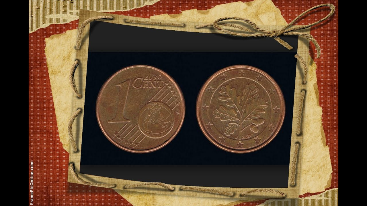 German coins one 1 euro cent 2011 mint mark d germany for Sitzkissen gunstig 1 euro