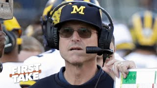 Should Michigan fire Jim Harbaugh after losing four straight bowl games? | First Take