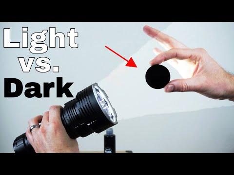 The Worlds Blackest Black vs The Worlds Brightest Flashlight (32,000 lumen)—Which Will Win?