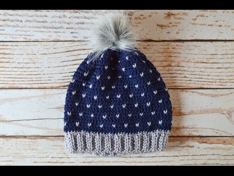 Snowfall Slouchy Hat Crochet Pattern Tutorial