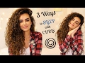 3 Ways to SLEEP With LONG CURLY HAIR!