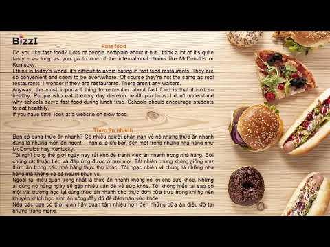 [BIZZI ENGLISH] LUYỆN NGHE THEO CHỦ ĐỀ – THỨC ĂN NHANH (FAST FOOD)