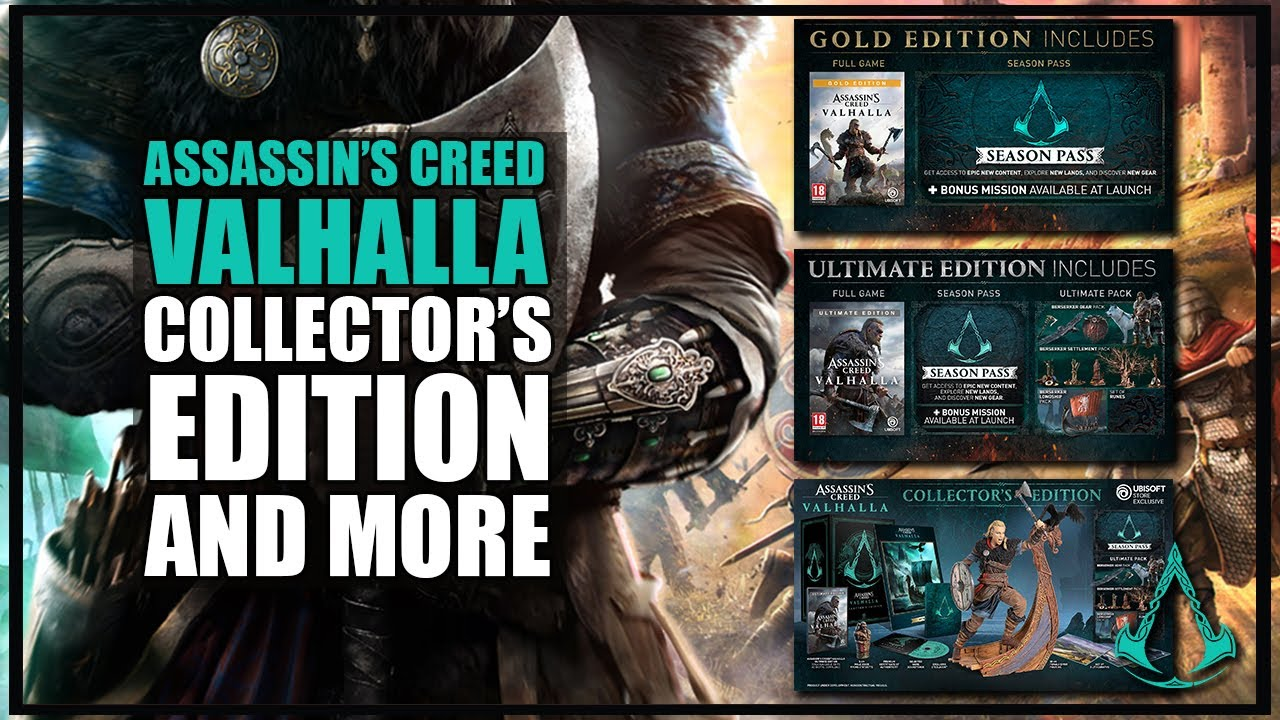 Assassin S Creed Valhalla Different Editions Character Name And Male Female Choices 2020 Youtube