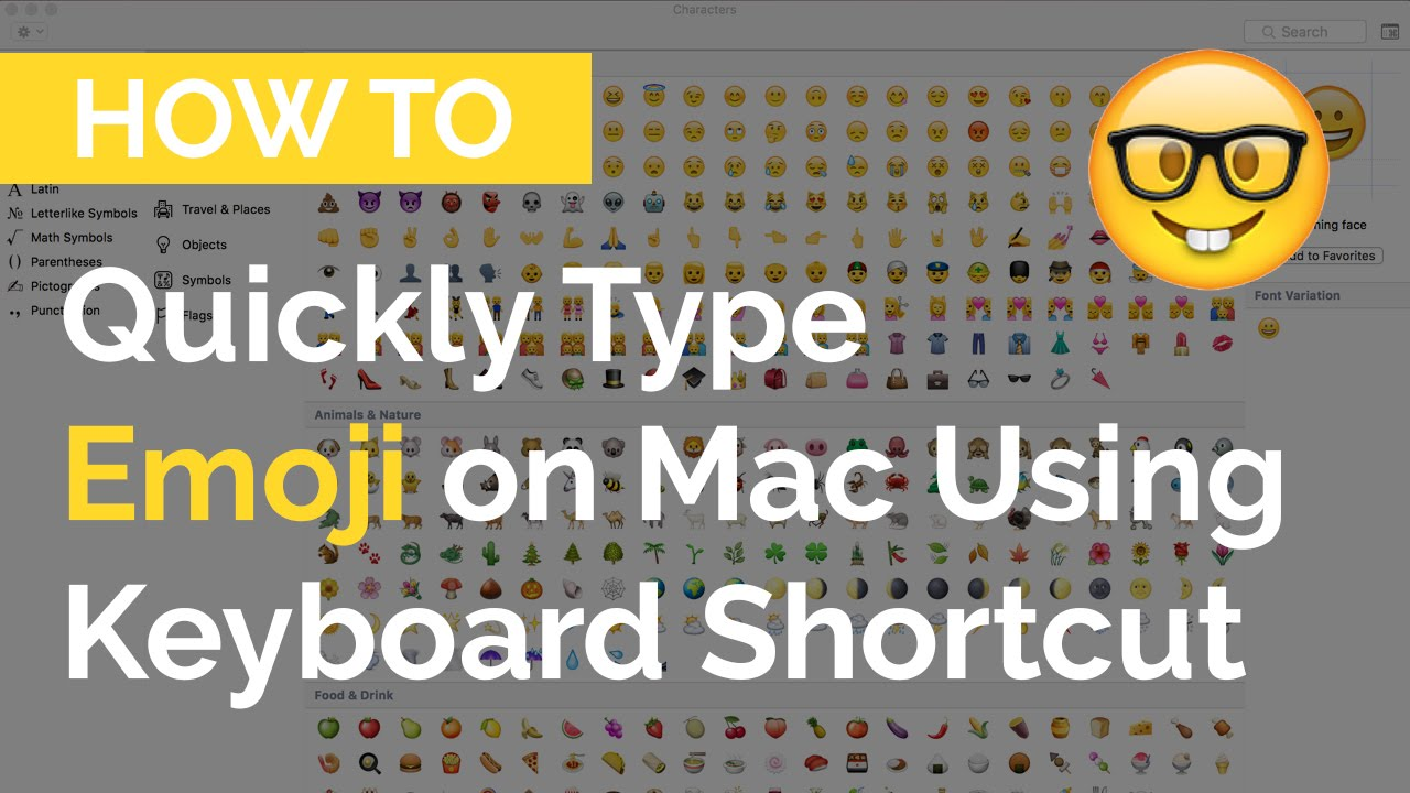 How to quickly type emoji on mac with keyboard shortcuts youtube how to quickly type emoji on mac with keyboard shortcuts biocorpaavc Choice Image