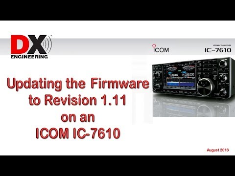 Updating the Firmware - Icom IC-7610 [ VIDEO ]