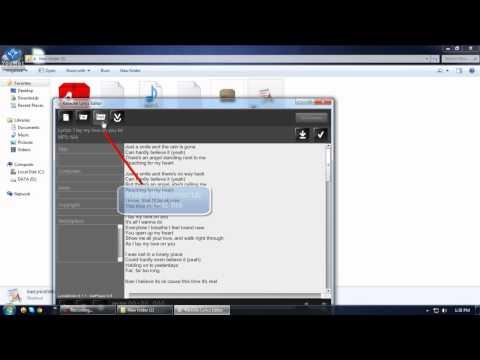 Karaoke - How to create an XML file