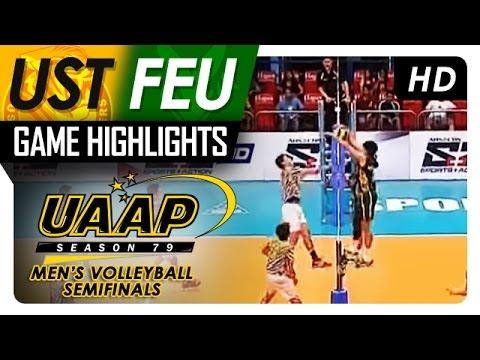 UAAP 79 Men's Volleyball Semifinals: FEU vs UST Game Highlights - April 19, 2017