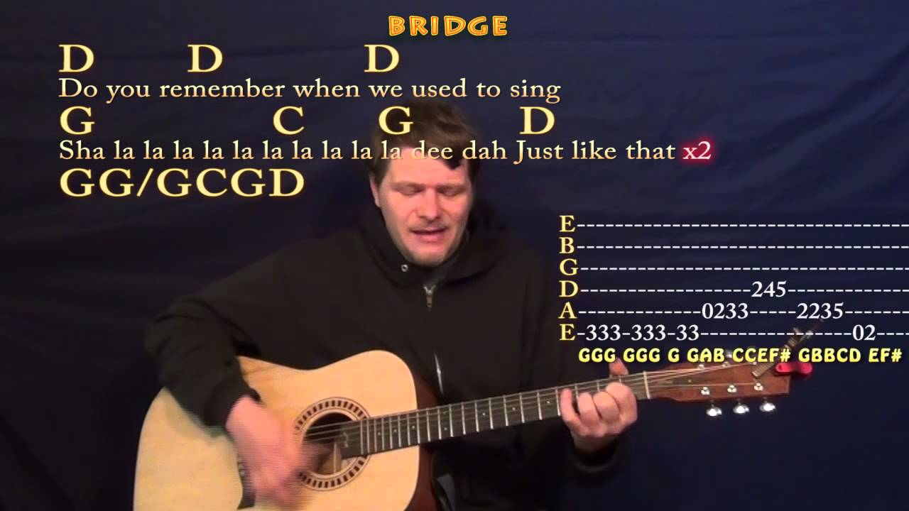 Brown Eyed Girl Van Morrison Strum Guitar Cover Lesson In G With
