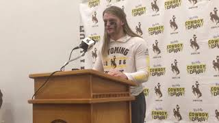 Wyoming's Andrew Wingard discusses defense against SJSU, moving up MW's career tackles list