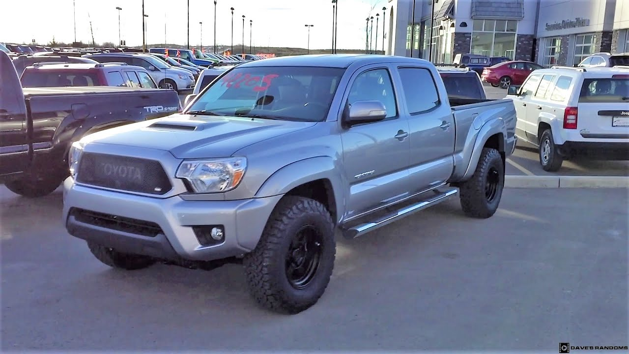 Toyota Tacoma Double Cab >> 2015 Toyota Tacoma Double Cab on 265/75R16 Tires - YouTube