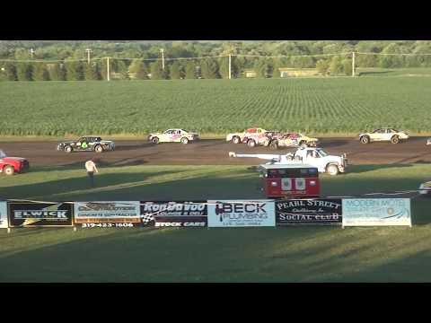 IMCA Stock Car feature Benton County Speedway 6/25/17