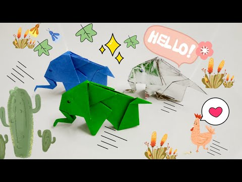 DIY Paper Origami - How to make elephant origami easy 🐘