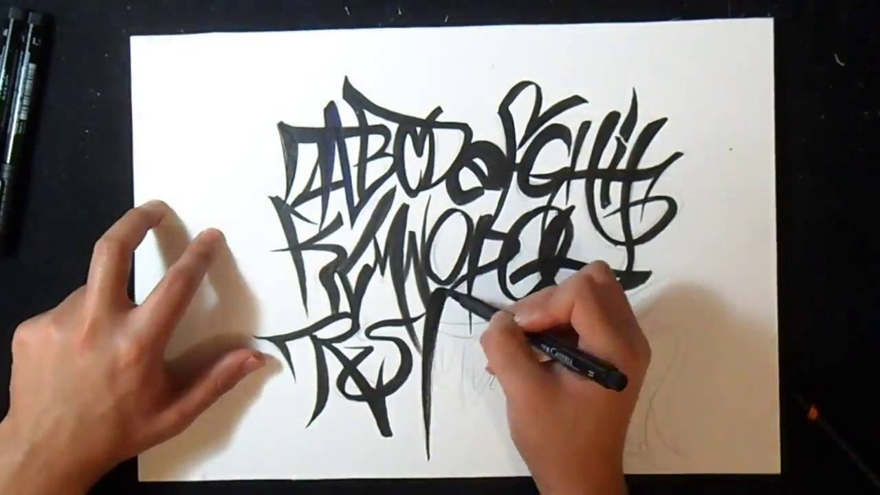 Desenhando carta de graffiti 3 alfabeto by xux design