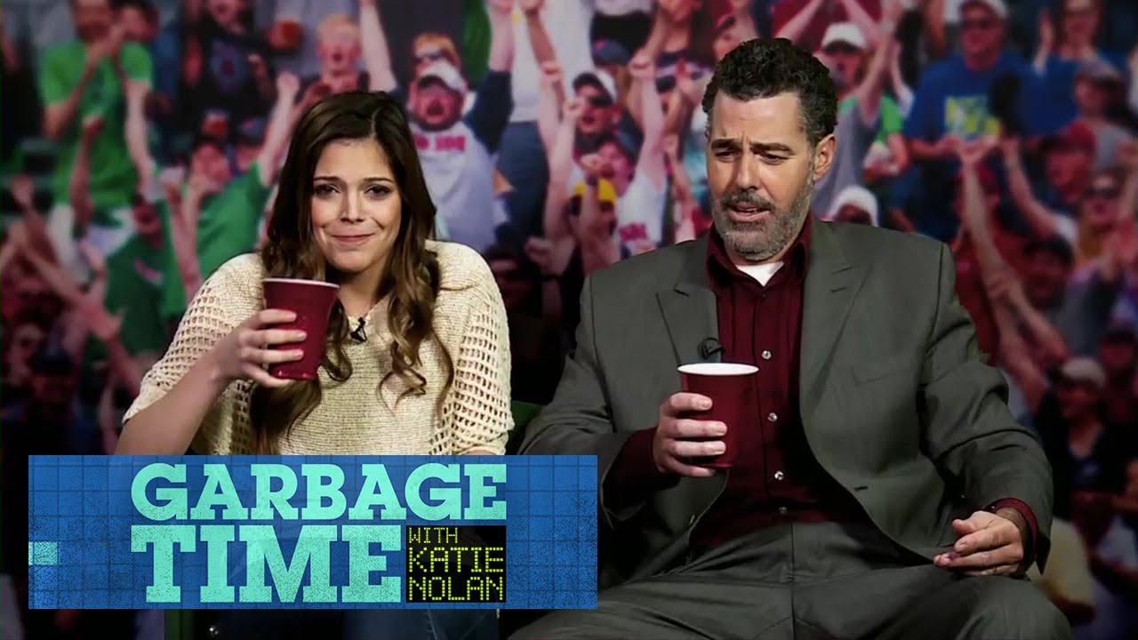 Katie and Adam Carolla talk Sports Bars and BBQ Rib Joints