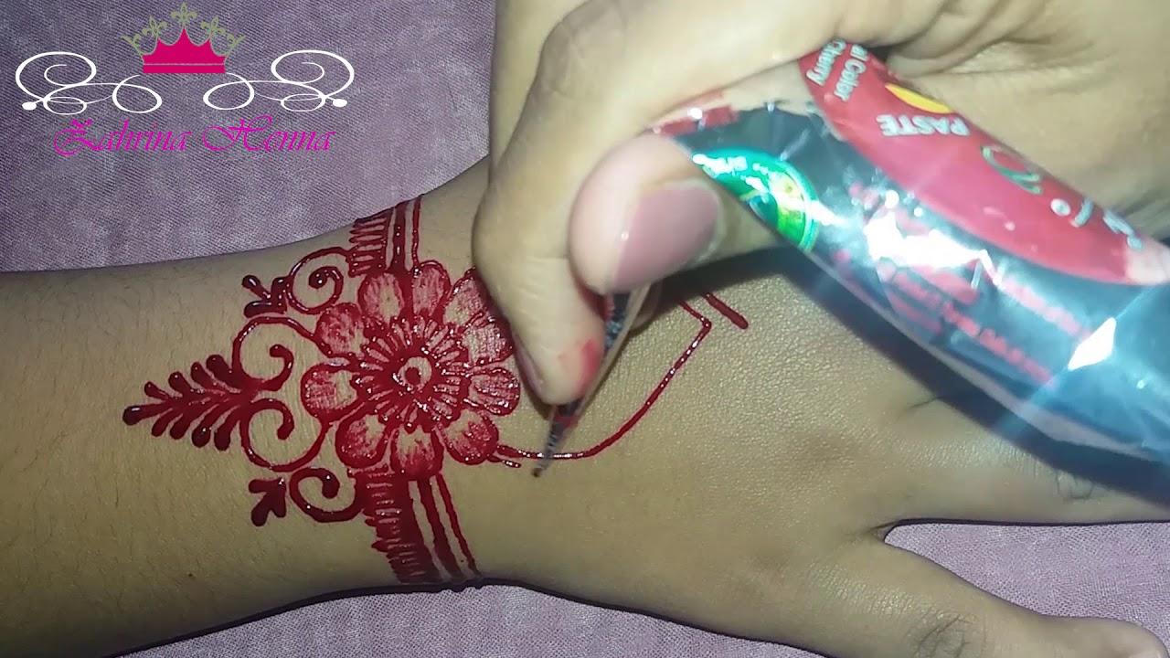 Cara Membuat Gambar Henna Di Tangan Yang Mudah Dan Sederhana Hot Liputan6 Com
