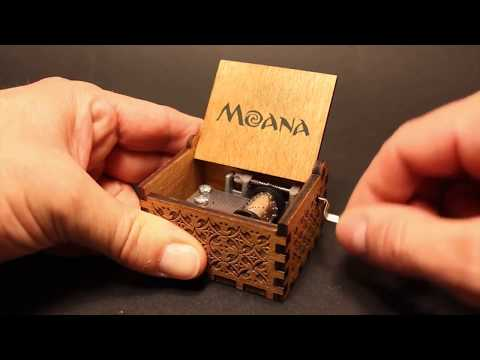 Moana Music Box How Far I'll Go Motunui Village Song
