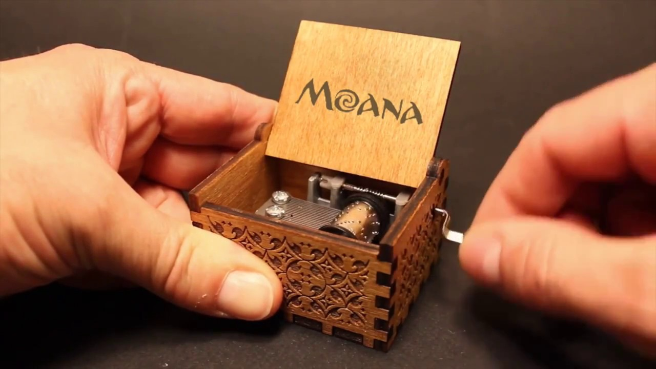 Moana Music Box How Far I Ll Go Motunui Village Song Youtube