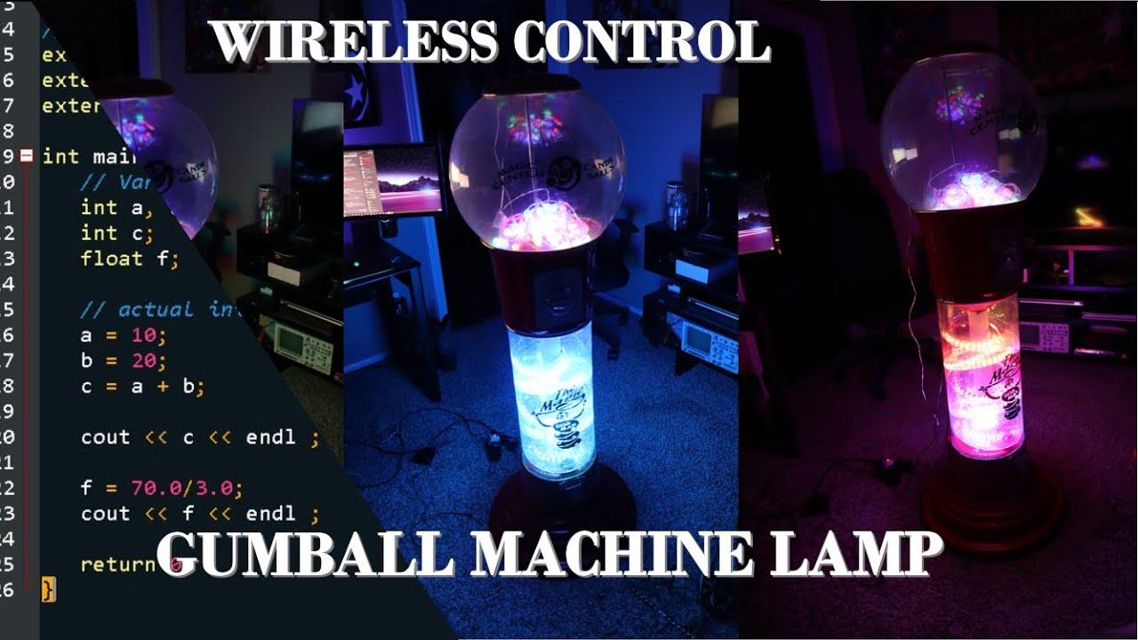 WiFi Controlled Machine LampArduino LED Gumball fgYby76