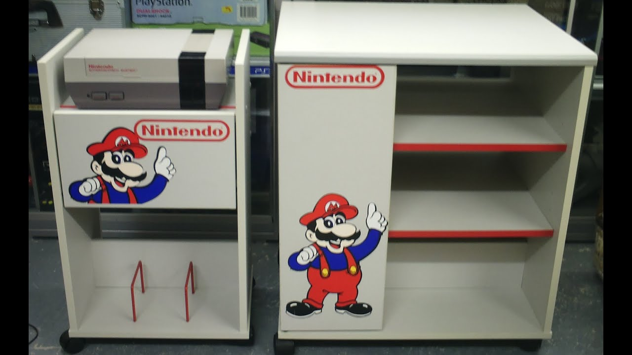 Video Game Display   Retro Nintendo Storage Cabinets   TV Cart And Game  Storage Units   YouTube