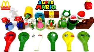 2017 McDONALD'S SUPER MARIO HAPPY MEAL TOYS BALLOONS COLLECTION 6 FULL WORLD SET 13 KIDS MEAL UK US