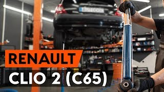 Como substituir amortyzatory traseira no RENAULT CLIO 2 (C65) [TUTORIAL AUTODOC]