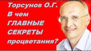 Торсунов О.Г. В чем ГЛАВНЫЕ СЕКРЕТЫ процветания?