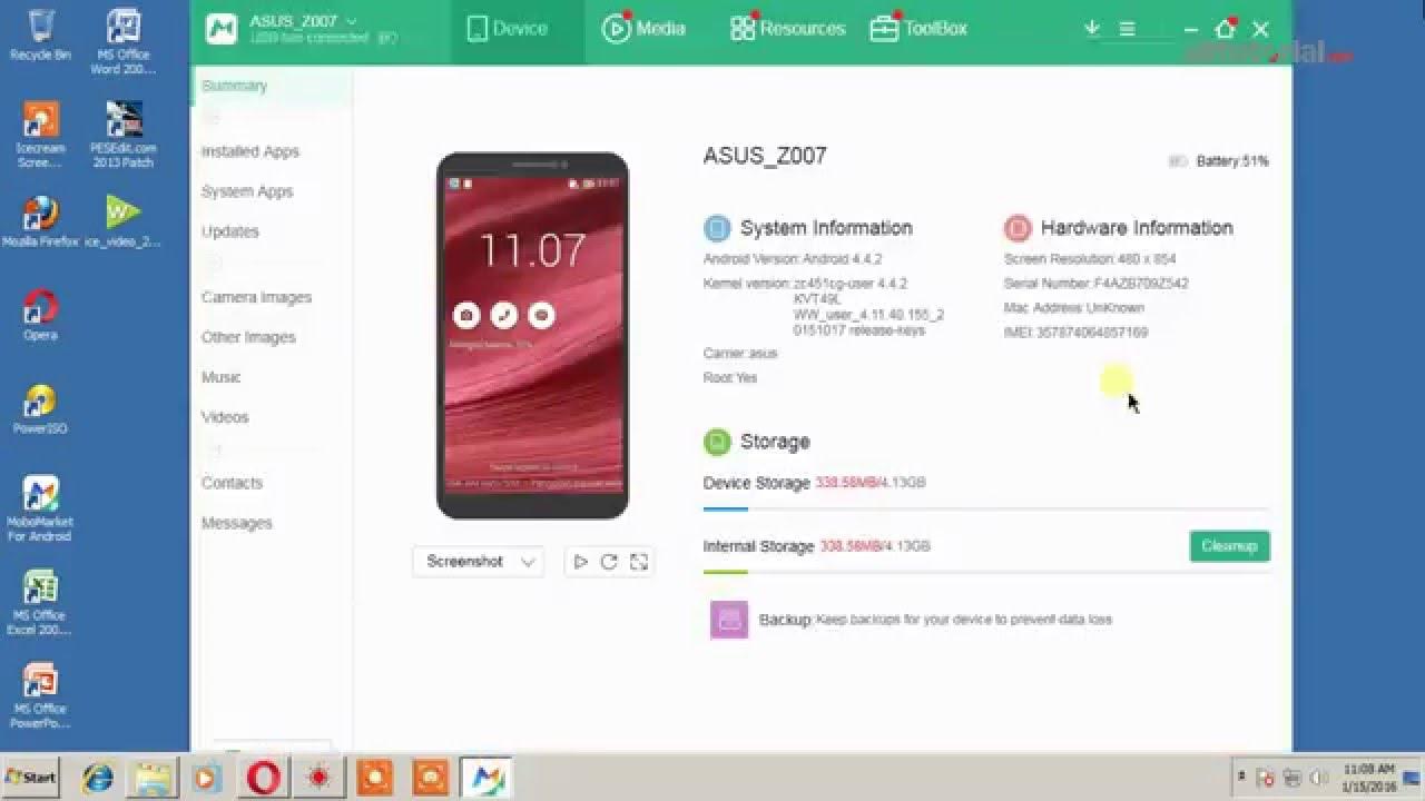 Cara Root Asus Zenfone C Z007 Zc451cg Youtube