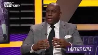 Magic Johnson speaks on new adviser role with Lakers
