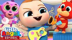 Bebé Juan Aprende a Tocar Música🎼 | Canciones Infantiles | Little Angel en Español