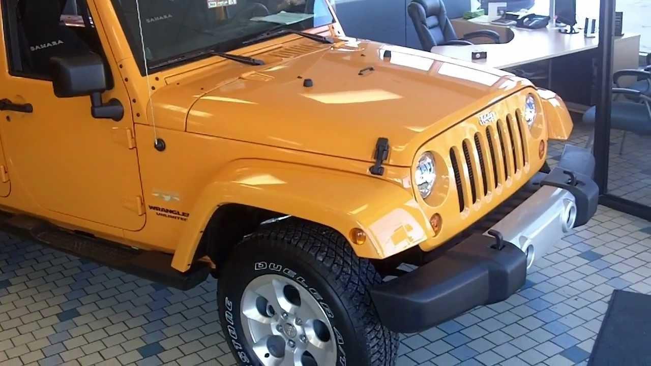 2013 Jeep Wrangler Unlimited Sahara >> 2013 Jeep Wrangler Unlimited Sahara Orange Dozer - YouTube