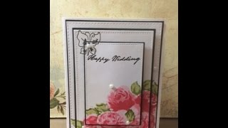 Altenew Vintage Roses Triple Layered Card-Tupelo Designs LLC
