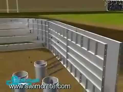 Swimming pool construction youtube - Concrete swimming pool construction ...