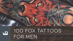 100 Fox Tattoos For Men