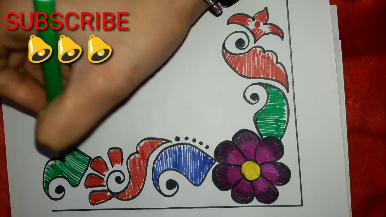 easy to make corner art design for project work file project