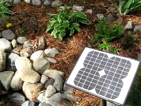 Solar Pond Pump And My Backyard Water Garden In Action