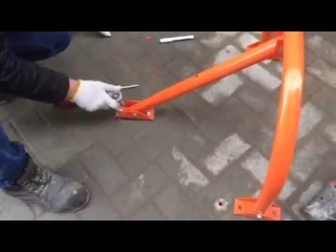 Парковочный сигнальный столбик. - YouTube