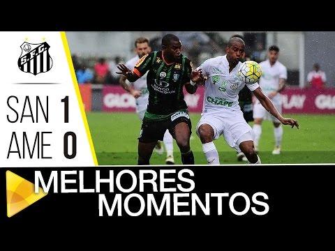 Santos 1 x 0 América-MG | MELHORES MOMENTOS | Brasileirão (11/12/16)